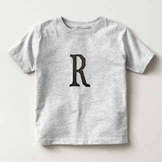 Concrete Monogram Letter R Toddler T-shirt