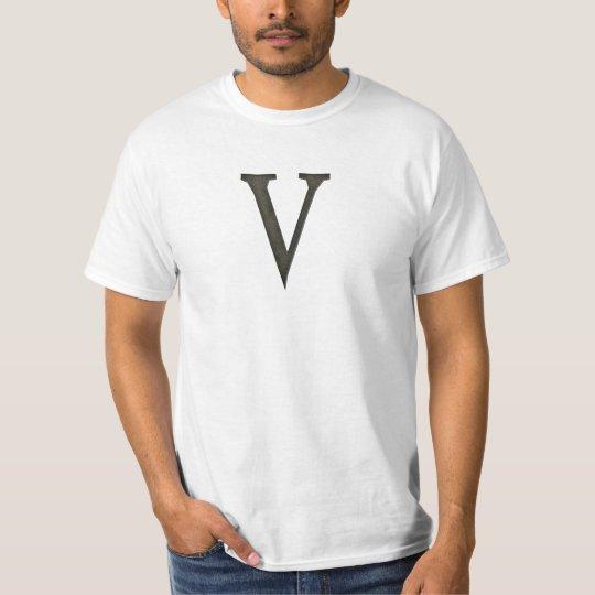 Concrete Monogram Letter V T-Shirt