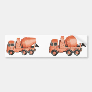 Concrete Orange Cement Toy Truck Bumper Sticker