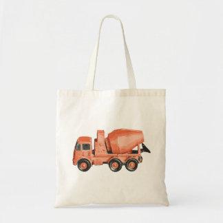 Concrete Orange Cement Toy Truck Tote Bag