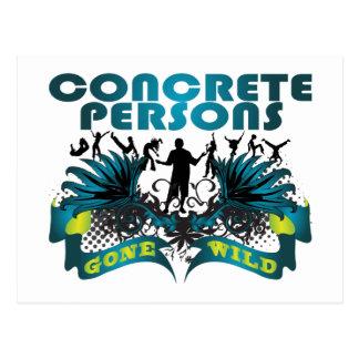 Concrete Persons Gone Wild Postcard