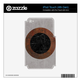 Concrete, Rusted Iron, and Black Marble Abstract iPod Touch 4G Skin