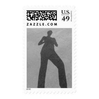 Concrete Shadow by Leslie Peppers Postage