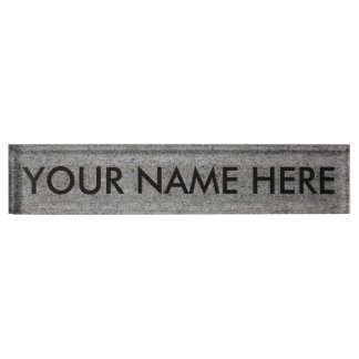 CONCRETE SLAB (architectural texture) ~ Nameplate