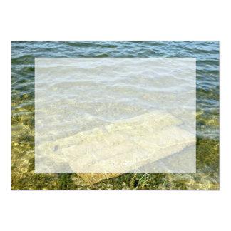 "Concrete slab in pond 5"" x 7"" invitation card"