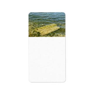 Concrete slab in pond custom address labels