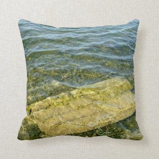 Concrete slab in pond pillow