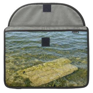 Concrete slab in pond sleeve for MacBooks