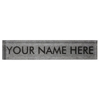 CONCRETE SLAB v.2 (architectural texture) ~ Desk Name Plate