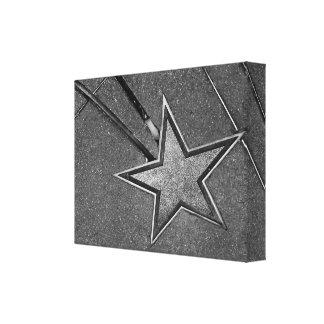 Concrete Star Stretched Canvas Prints