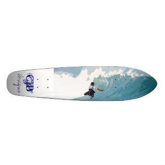 Concrete surf skateboard deck