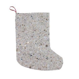 Concrete Surface Photo Small Christmas Stocking