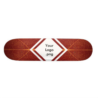 Concrete Surfer Red Leaf As-is / Customisable Deck