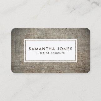 Concrete Texture Simple Modern Interior Designer Business Card