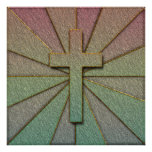 CONCRETE TEXTURED CROSS POSTER