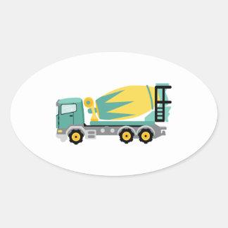 Concrete Truck Oval Sticker