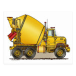 Concrete Truck Post Card