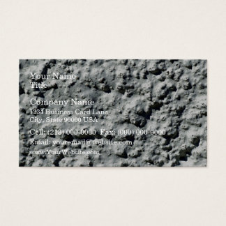 Concrete wall with rough surface business card