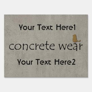 Concrete Wear Construction Business Sign