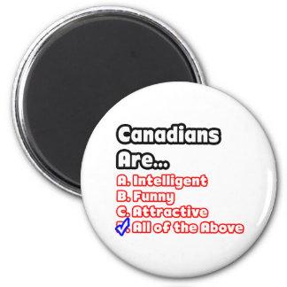 Concurso canadiense del orgullo imán redondo 5 cm
