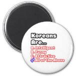 Concurso coreano del orgullo imán de nevera
