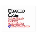 Concurso coreano del orgullo tarjeta postal