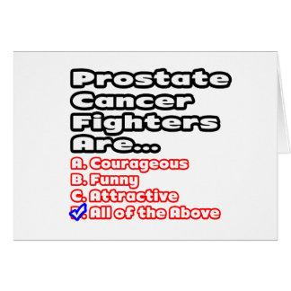 Concurso del combatiente del cáncer de próstata tarjeta de felicitación