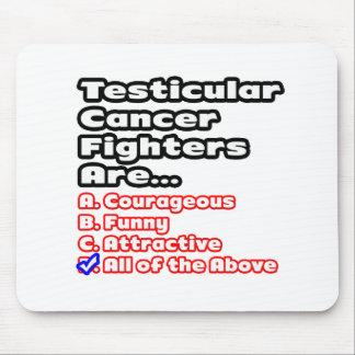 Concurso del combatiente del cáncer testicular alfombrillas de raton