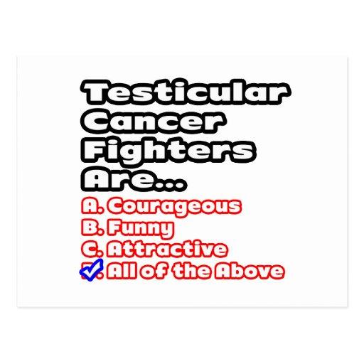 Concurso del combatiente del cáncer testicular tarjetas postales