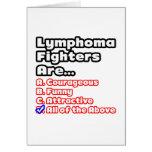 Concurso del combatiente del linfoma tarjetas