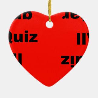 concurso del pub toda la estrella adorno navideño de cerámica en forma de corazón