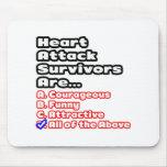 Concurso del superviviente del ataque del corazón alfombrillas de ratón