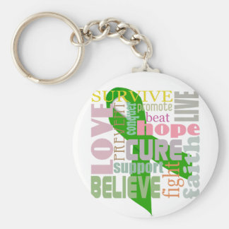 Concussion Green Ribbon Inspiration Keychain