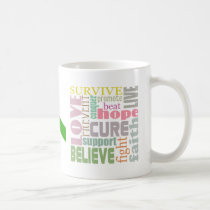 Concussion Green Ribbon Inspiration Mug