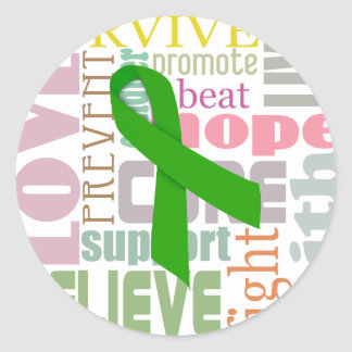 Concussion Green Ribbon Inspiration Stickers