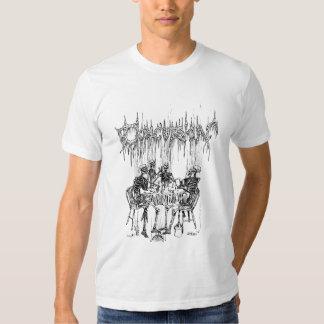 Concussion Smoking Skeleton Tee Shirts