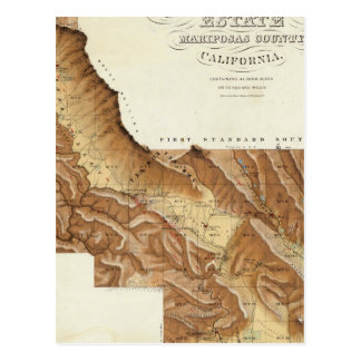 Condado California de Mariposas del estado de Las  Tarjeta Postal