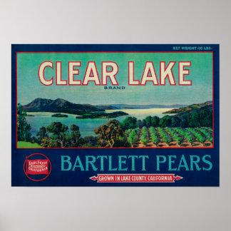 Condado claro de LabelLake del cajón de la pera de Póster