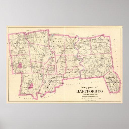 Condado Connecticut de Hartford Póster