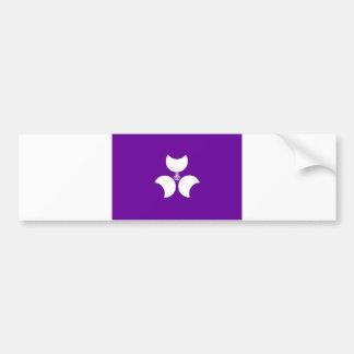 condado de gunma del distrito de la bandera de la  pegatina para auto