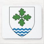 Condado de la insignia del populacho de Oakford Alfombrillas De Raton