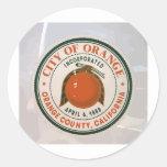 Condado de Orange, Ca, los E.E.U.U. Pegatinas Redondas