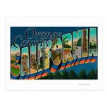 Condado de Orange, California - escenas grandes de Postal