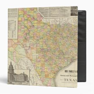 """Condado del gran escala y mapa del ferrocarril de  carpeta 1 1/2"""""""