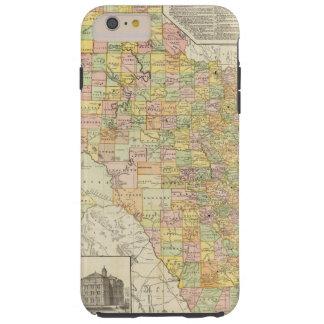 Condado del gran escala y mapa del ferrocarril de funda de iPhone 6 plus tough