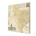 Condado del gran escala y mapa del ferrocarril de  impresión en lienzo estirada