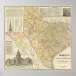 Condado del gran escala y mapa del ferrocarril de  impresiones