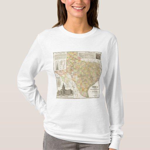Condado del gran escala y mapa del ferrocarril de playera