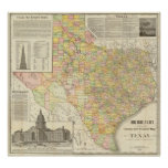 Condado del gran escala y mapa del ferrocarril de  póster