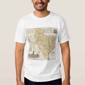 Condado del gran escala y mapa del ferrocarril de remeras